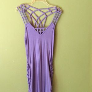 Long, strappy and stretchy summer dress.